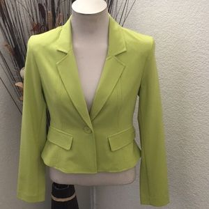 NWT Lime Blazer w/Slight Flare at Waist